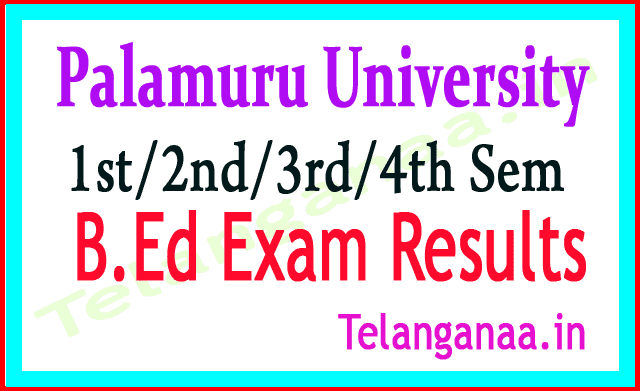 Palamuru University B.Ed 1st Sem  Exam Results