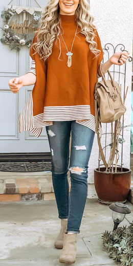 Oversize Knit Cape Sweater 30+ Pretty Winter Outfits To Copy Now!. winter fashion inspiration | pretty winter fashion | holiday fashion winter | fashions winter. #winterstyle #outfits #fashion #style