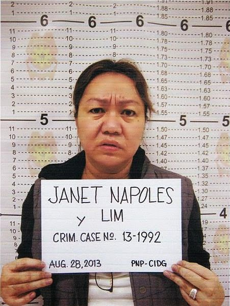 Janet Lim-Napoles mugshot By Philippine National Police [Public domain], via Wikimedia Commons
