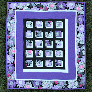 Flower wall hanging-purple flowers-shadow quilt-QUILT FOR SALE