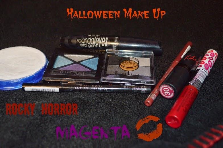 , Rimmel Rocky Horror Magenta Halloween Make Up Tutorial