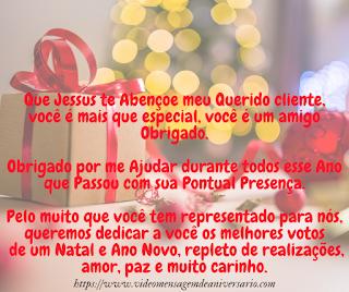 Mensagem de Natal para Clientes, Compartilhe esse Lindo Cartão de Natal para Clientes.
