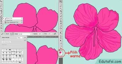 Gambar Bunga Dan Cara Pewarnaannya - GAMBAR TERBARU HD