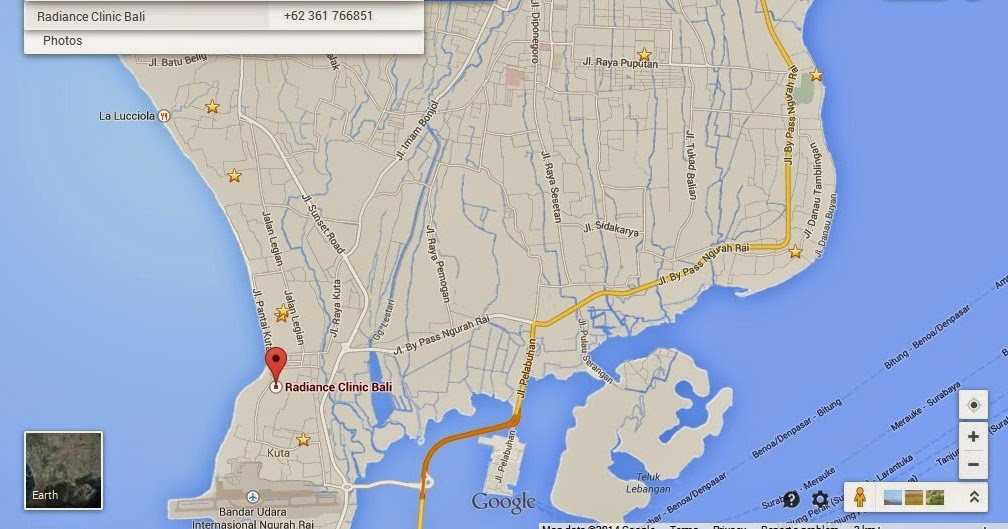 Radiance Clinic Bali Location Attractions Map | Bali ...
