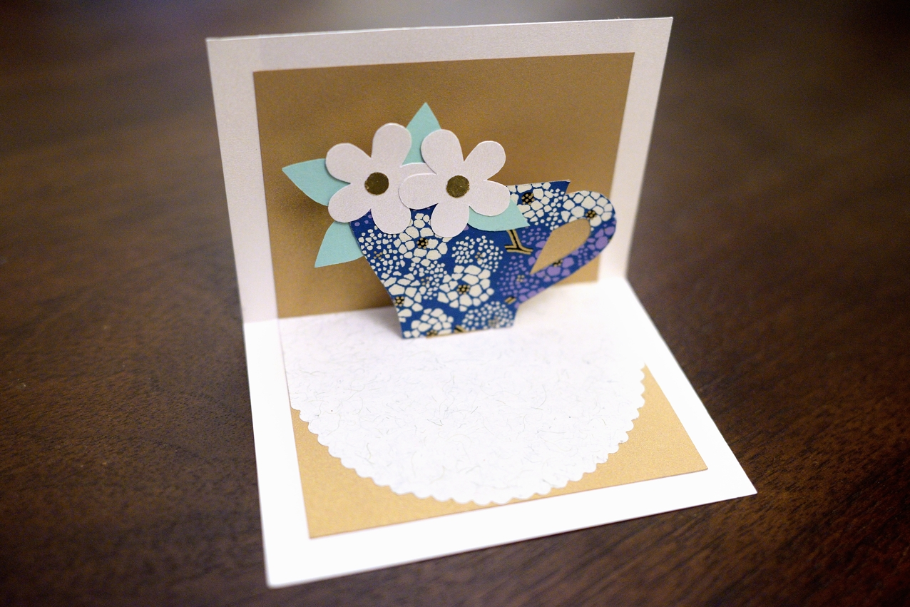 Paper And Plates: Teacup Bouquet Pop-Up Card