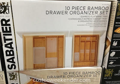 Sabatier 10-piece Bamboo Drawer Organizer Set - Use your drawer space efficiently with the expandable gadget tray