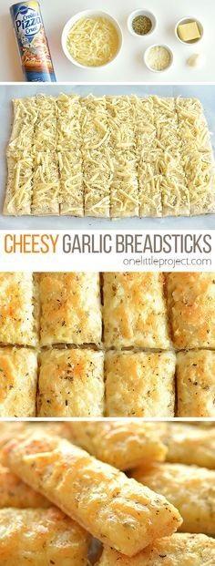 Homemade Cheesy Garlic Breadsticks Recipe
