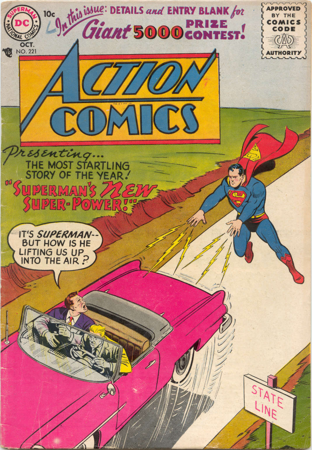Read online Action Comics (1938) comic -  Issue #221 - 1