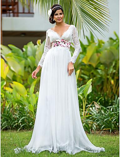 vestidos de novia con manga y ampones