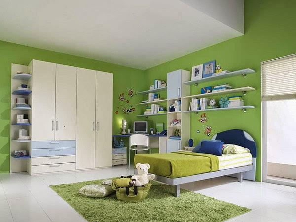 cuarto verde niño
