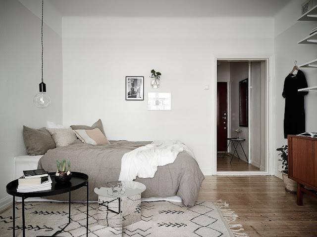 sypialnia w kawalerce, jak urządzić kawalerkę