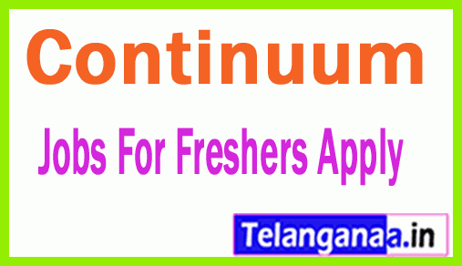Continuum Recruitment Jobs For Freshers Apply