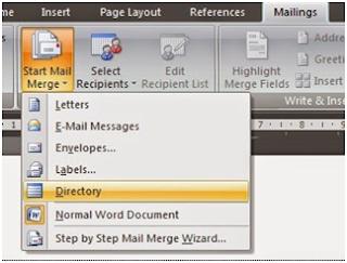 Cara Membuat Mail Merge dengan Gambar di Word
