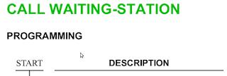 CALL WAITING-STATION