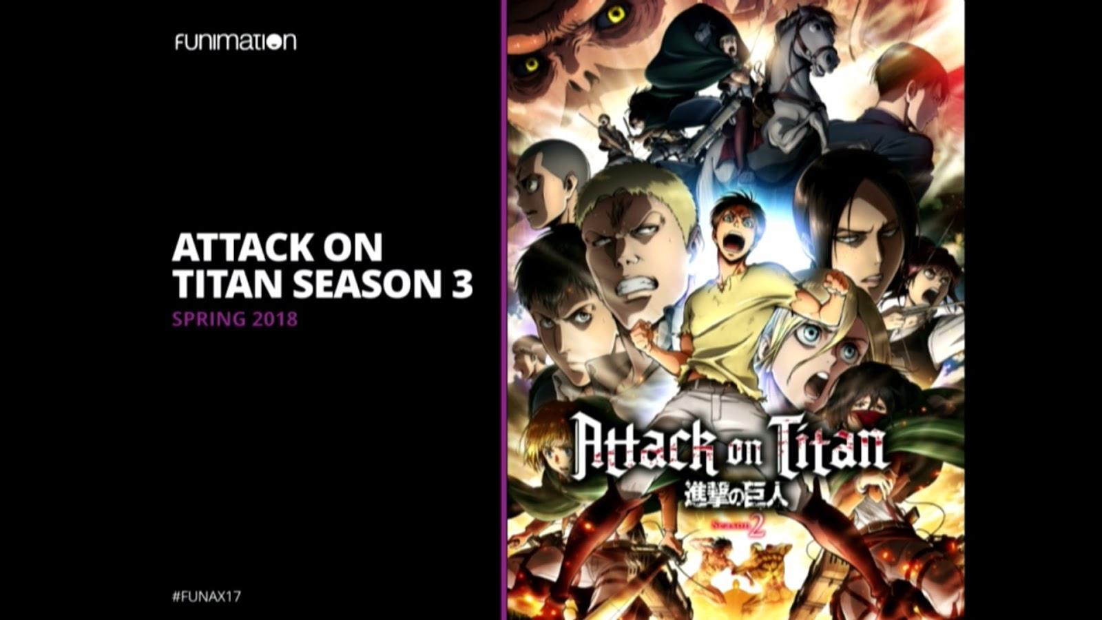 3 sezon Attack on Titan - zapowiedź FUNimation