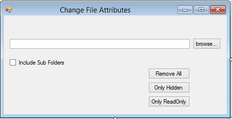 Change file attributes in C#