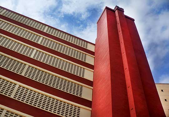 abstract, urban photography, hotel, Spain, Europe, architecture, 1970s buildings,