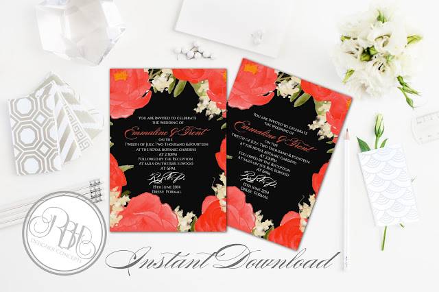 https://www.etsy.com/au/listing/263449790/red-black-watercolor-wedding-invitation