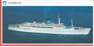 Chandris Cruises Amerikanis ex Kenya Castle - As seen in a Postard View.