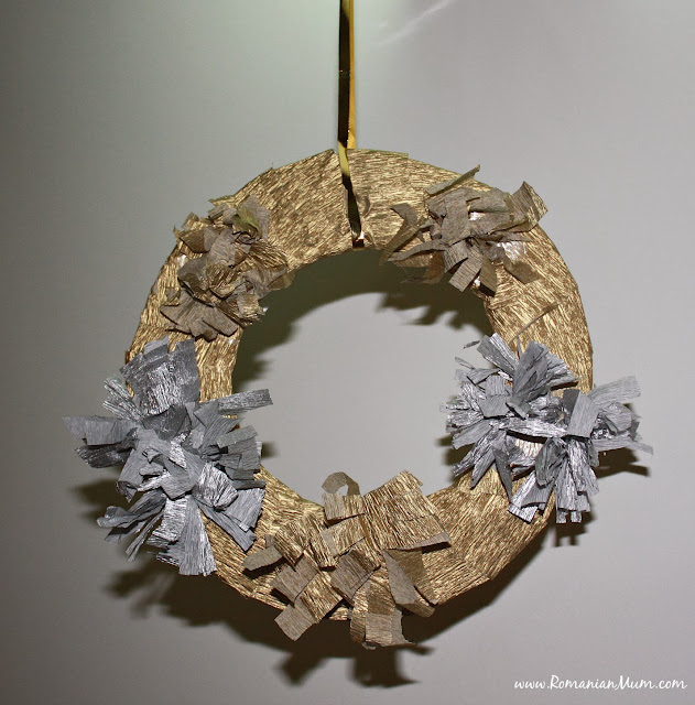 Gold & Silver Christmas Wreath