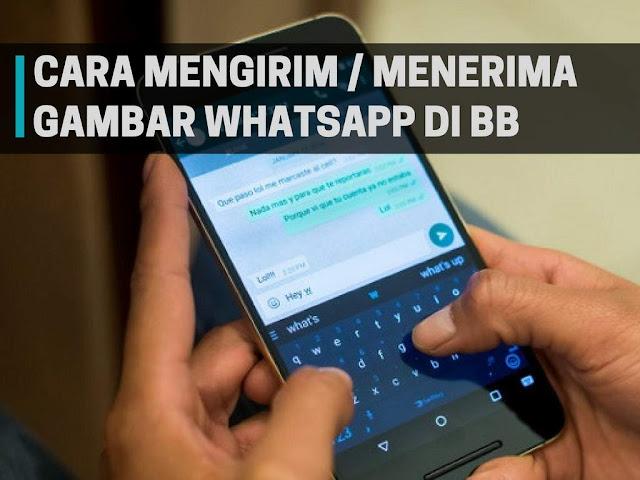 Cara Kirim atau Menerima Gambar dan Video Whatsapp di BlackBerry