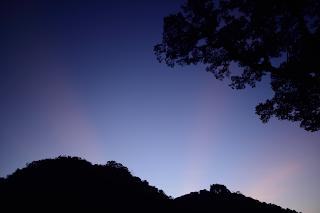 subtle color sunrise