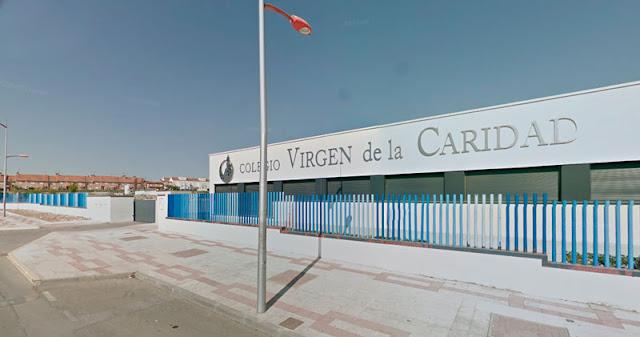 fachada del colegio virgen de la caridad de Illescas