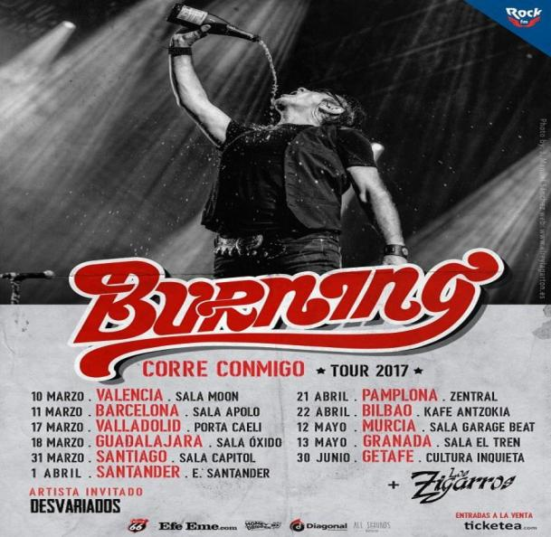Tour 2017 de Burning - 'Corre conmigo'