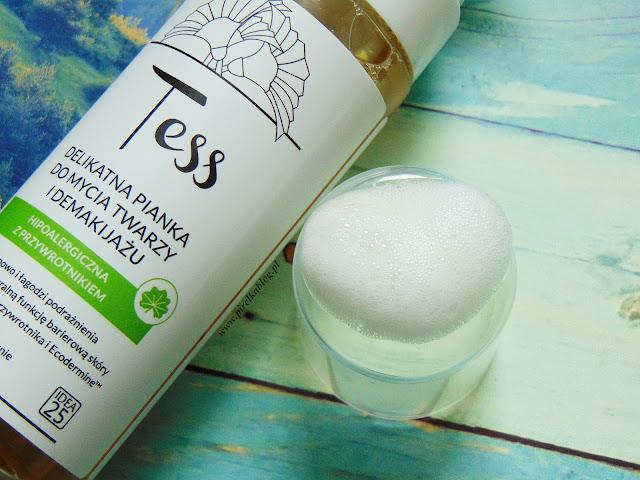 Tess, Delikatna pianka do mycia twarzy z przywrotnikiem