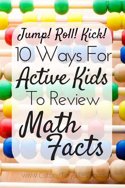 Gross motor strategies for ACTIVE kids to review math facts: addition, subtraction, multiplication, or division. Perfect for kinesthetic learners!