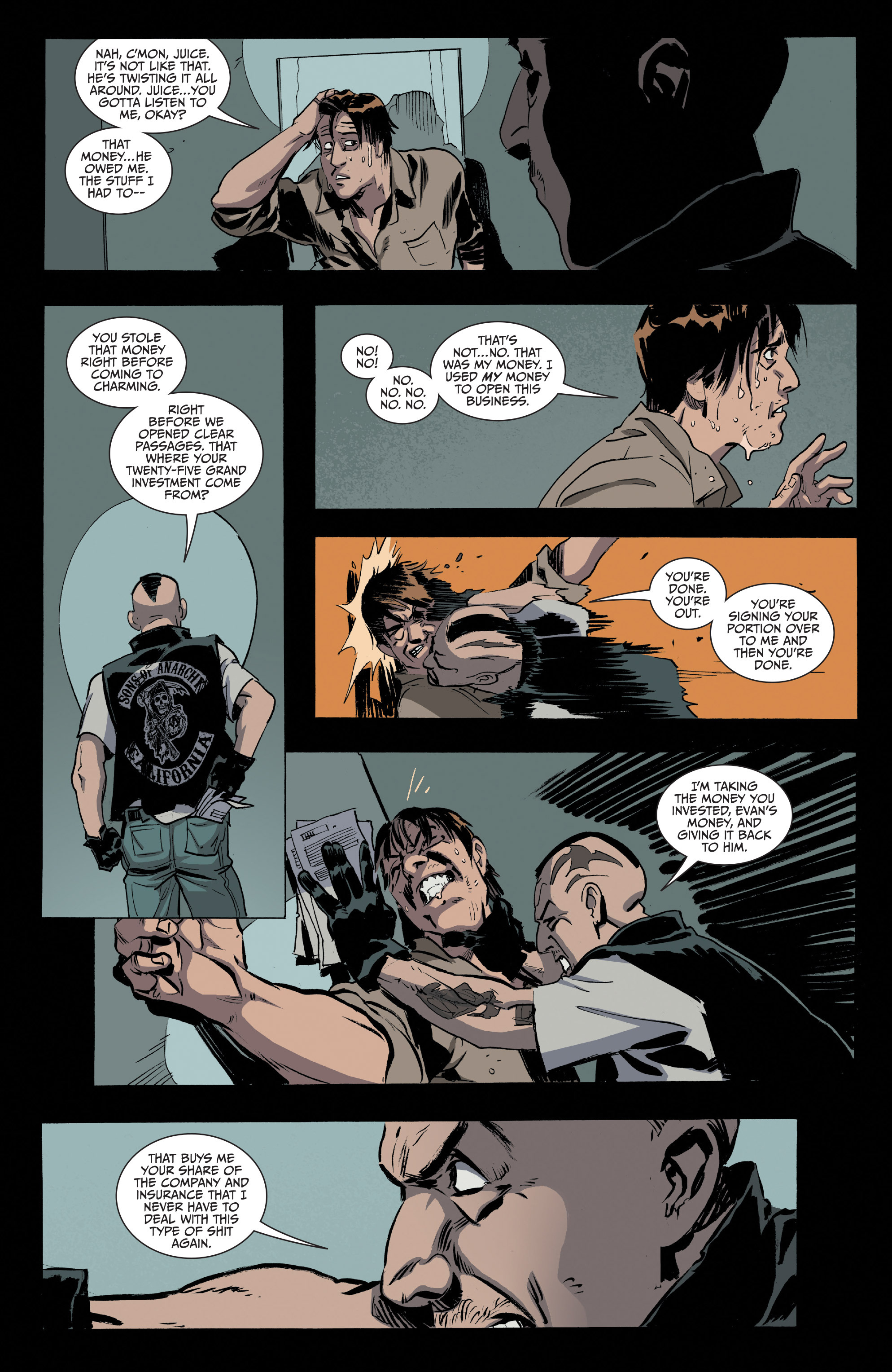 Read online Sons of Anarchy comic -  Issue #16 - 19