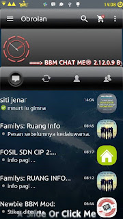 BBM MOD BBM Chat Me Gradient Black V2-2.12.0.9