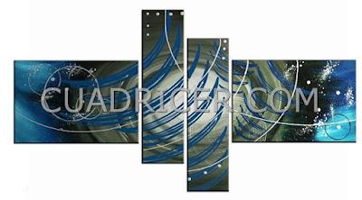 http://www.cuadricer.com/cuadros-pintados-a-mano-por-colores/cuadros-azul-turquesa/cuadros-abstractos-azules-tripticos-varias-piezas-1846az.html