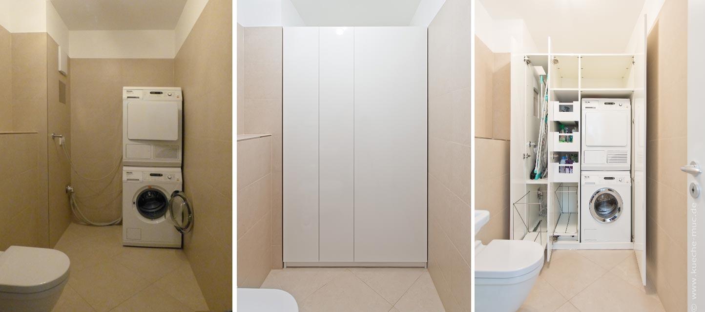 schrank f r waschmaschine und trockner haushaltsger te. Black Bedroom Furniture Sets. Home Design Ideas