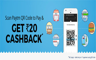 paytm scan and pay offer 20