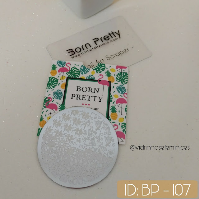 Placa Born pretty -107