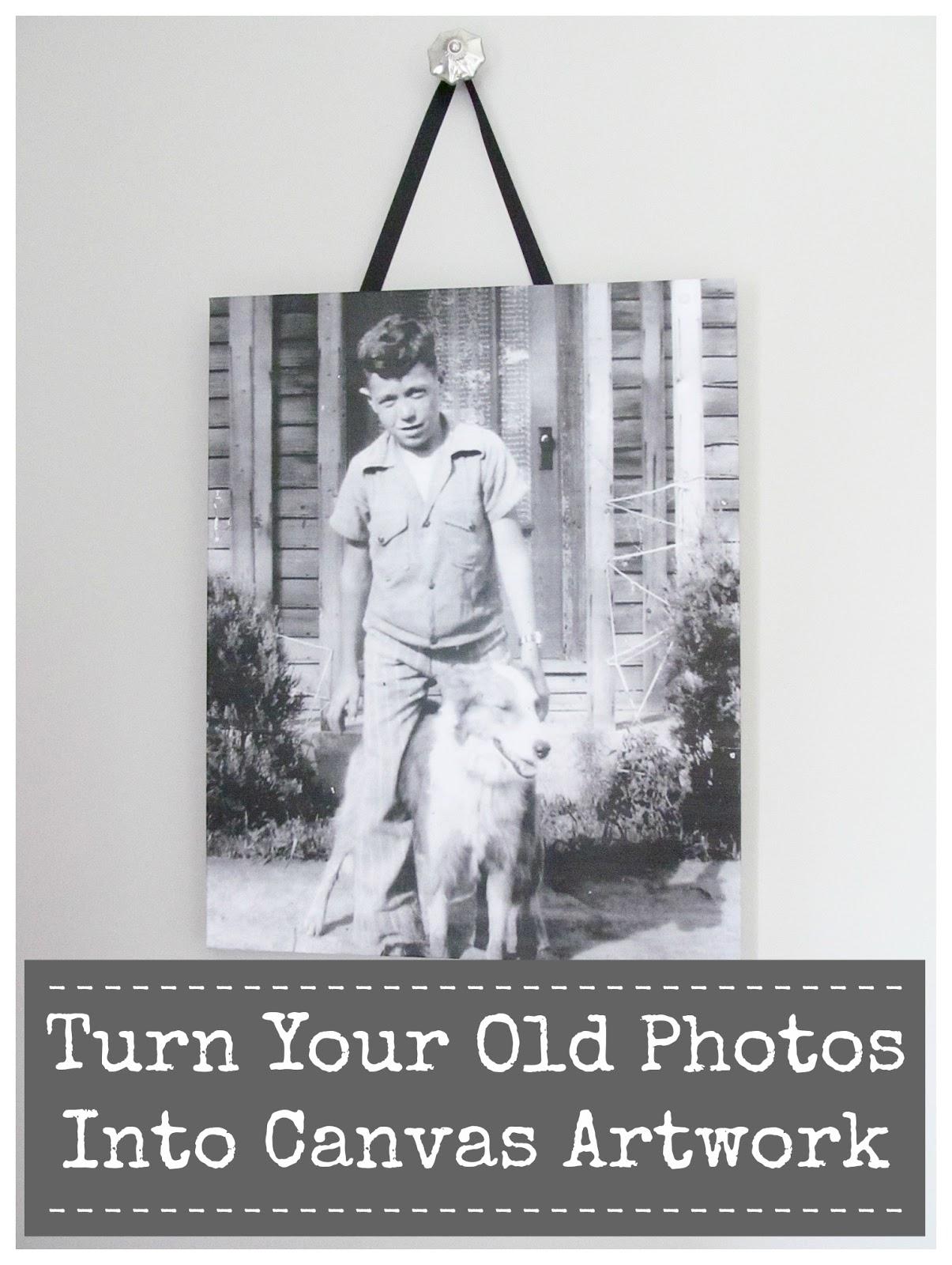 Turn Your Vintage Photos Into Canvas Artwork