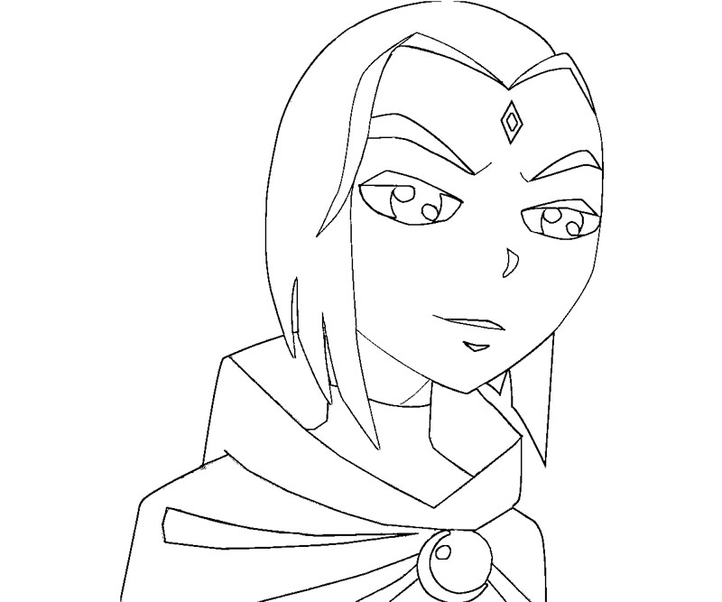Teen Titans Raven Coloring Pages Coloring Pages