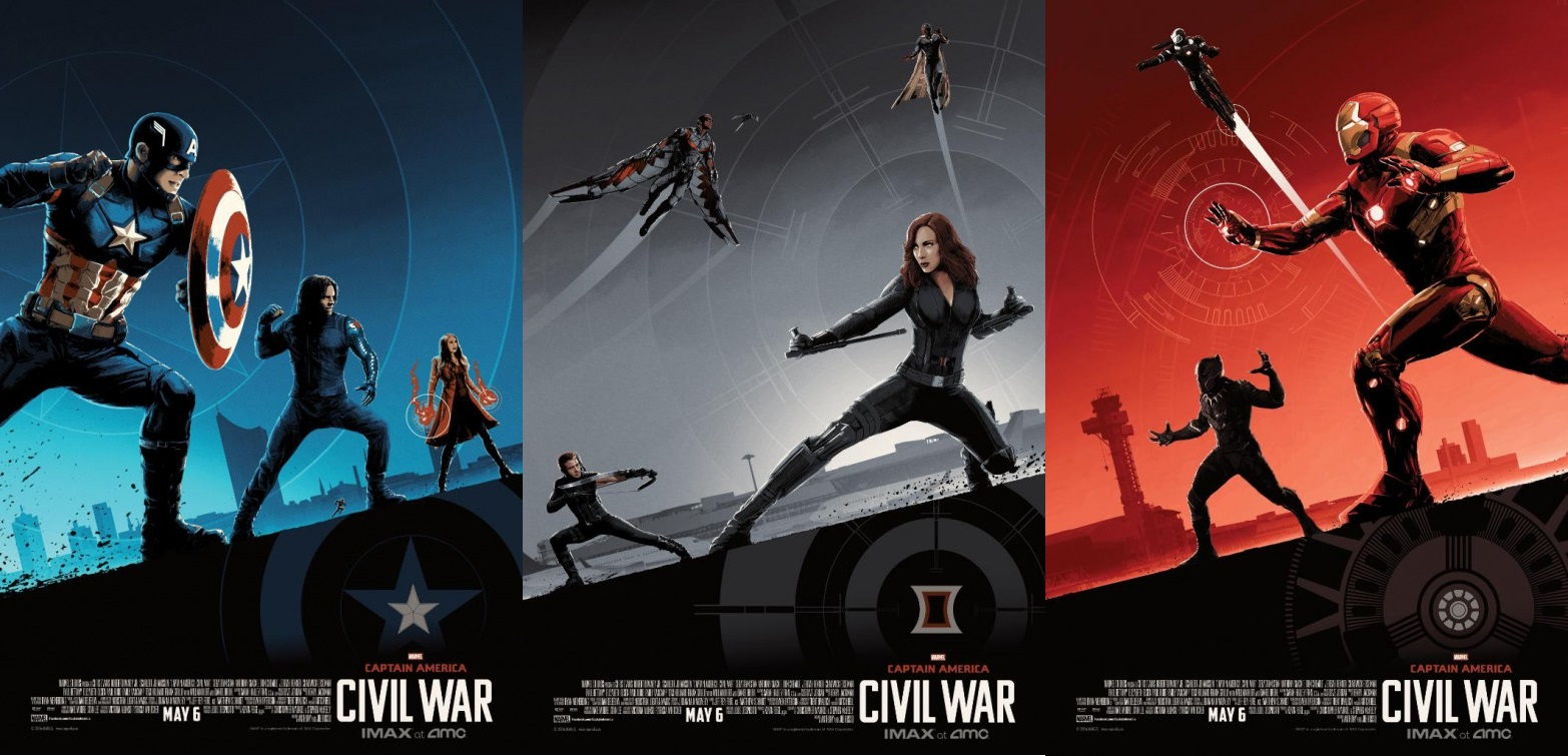 The Blot Says...: Captain America: Civil War IMAX Movie Posters by ...