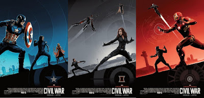 Captain America Civil War IMAX Movie Poster Diptych by Matt Ferguson x AMC Theaters x Marvel Comics