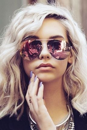 85f03f86bd0 ... rose quart . Adopt these trending colours in sunglasses and cool this  summer. Go for rose pink mirrored sunnies or sunglasses with powder blue  frames.