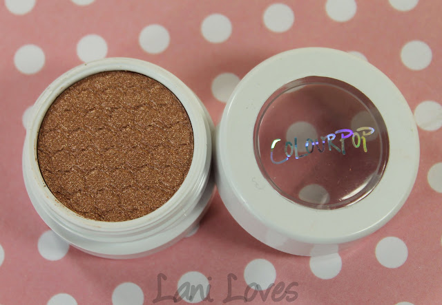 ColourPop Super Shock Shadows - La La Swatches & Review