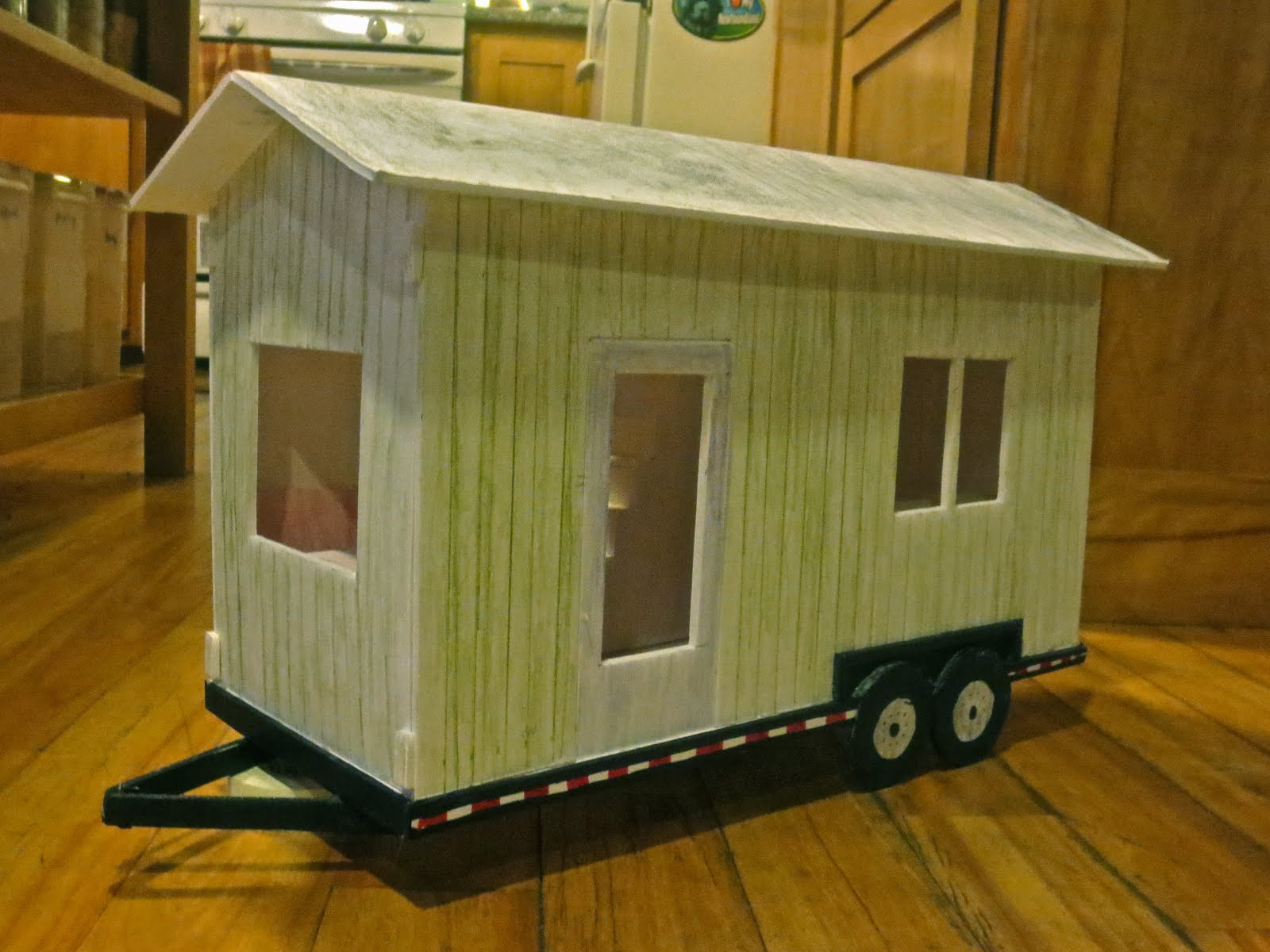Tiny House Scale Model Exterior View