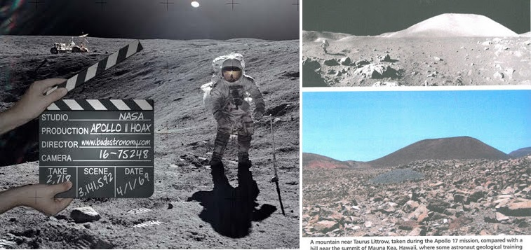 Άλλη μια απόδειξη ότι η NASA κινηματογράφησε τις ψεύτικες προσγειώσεις στην σελήνη στη Γη! βουνό της Χαβάης έγινε βουνό της σελήνης!