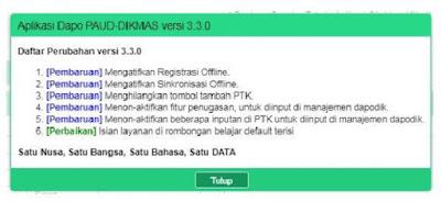 Dapodik PAUD Versi 3.3.0
