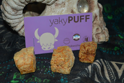 Puffed yak cheese treats from the Himalayan Dog Chew company
