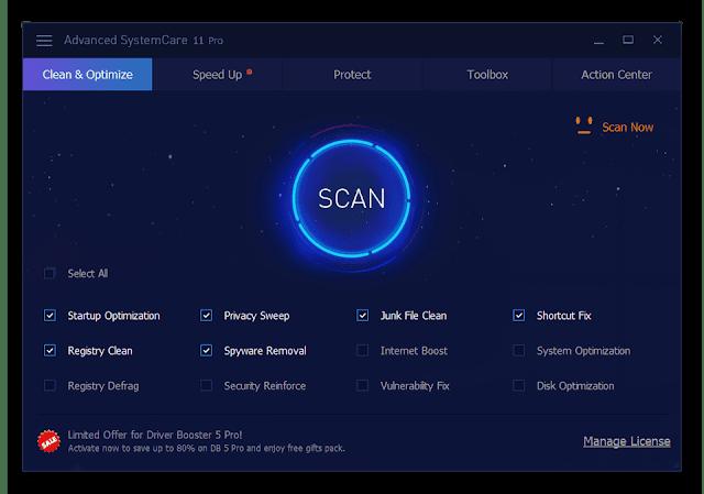تحميل برنامج Advanced SystemCare Free لتسريع الكمبيوتر وتنظيفه