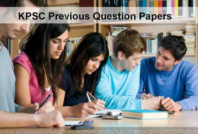 KPSC Previous Question Papers