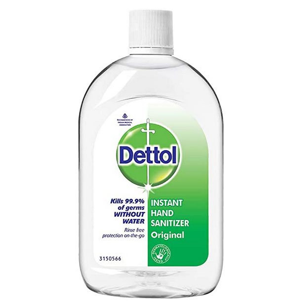 Dettol Original Germ Protection Alcohol-based Hand Sanitizer Refill Bottle, 500ml