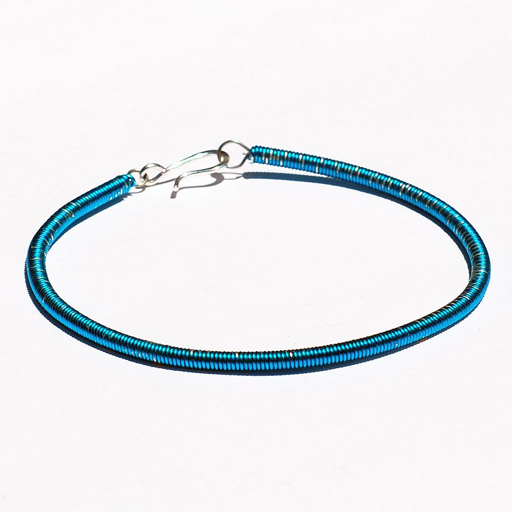 guitar string jewelry by tanith rohe bass guitar string bracelet electric blue. Black Bedroom Furniture Sets. Home Design Ideas